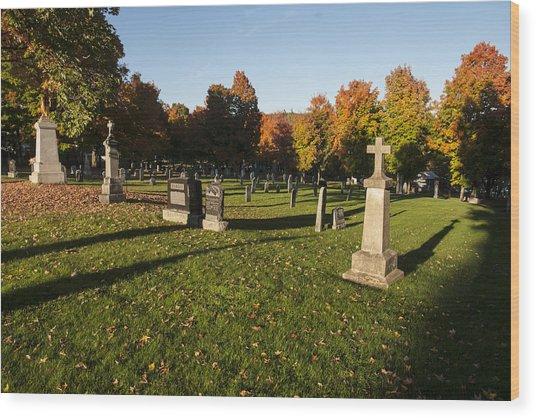 Graveyard Wood Print by Philippe Boite