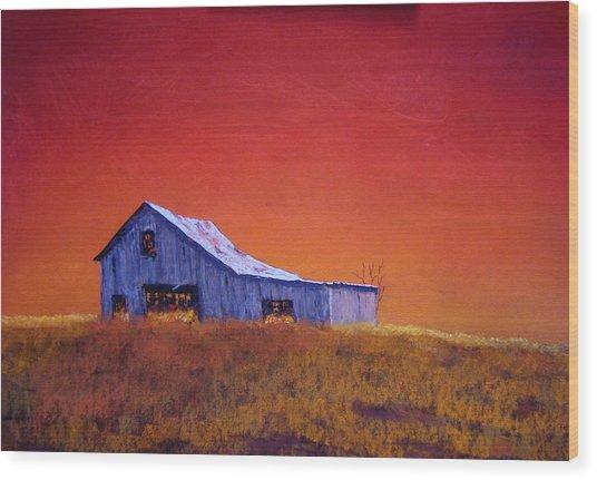 Gray Barn Wood Print