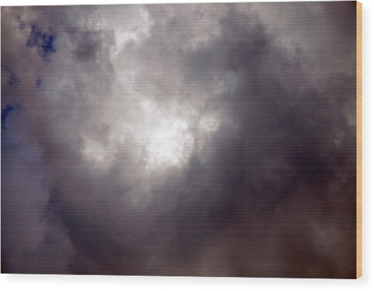 Gray Cloud Wood Print