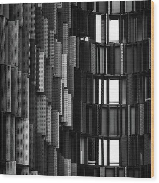 Grays Break Up Wood Print