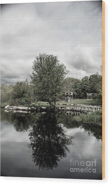 Grays Mill Pond Wood Print