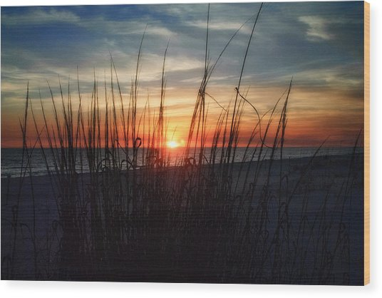 Grayton Beach Sunset 3 Wood Print