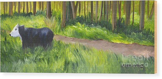 Grazing Wood Print by Maria Williams