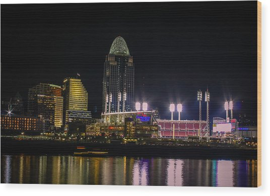 Great American Ball Park Wood Print