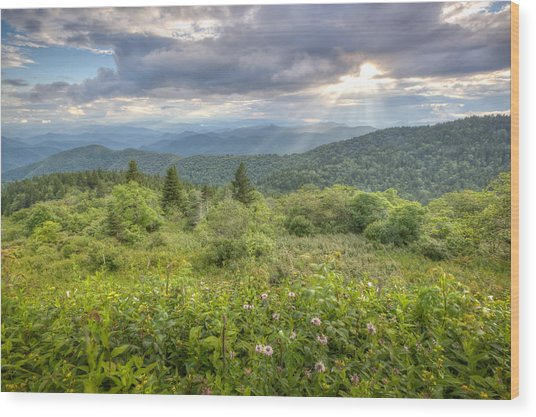 Great Balsam Mountains Wood Print by Doug McPherson
