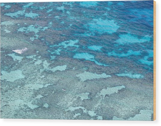Great Barrier Reef From The Air Wood Print