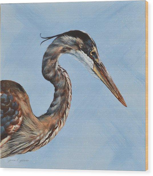 Great Blue Iv Wood Print