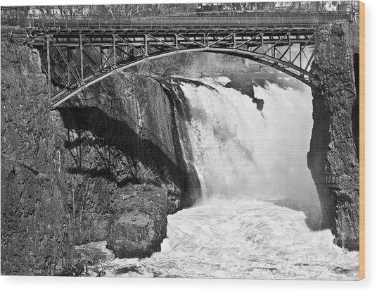 Great Falls In Paterson Nj Wood Print