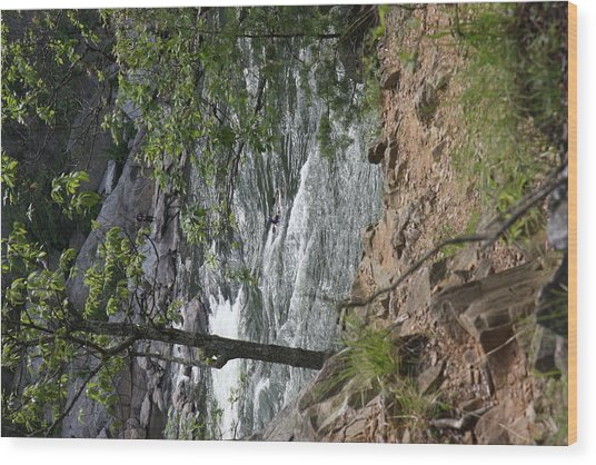 Great Falls Park - 121225 Wood Print by DC Photographer