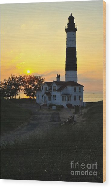 Great Lakes Lighthouse Big Sable Point Wood Print
