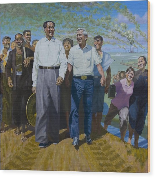 Great Leaders Accomplishing Mission Of Mutual Enrichment Wood Print by Johnny Everyman