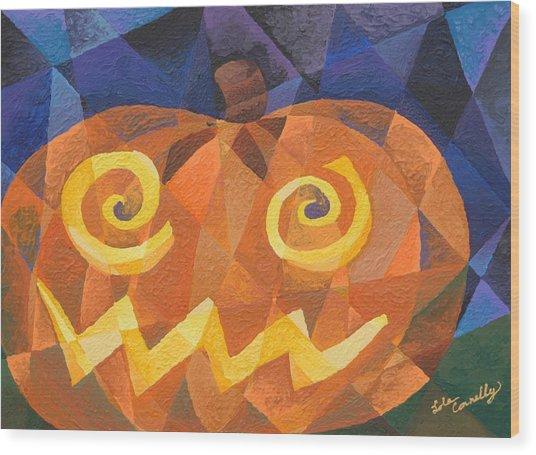 Great Pumpkin Wood Print