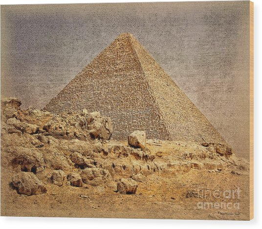 Great Pyramid Of Khufu Wood Print