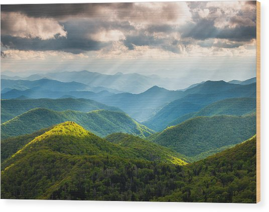 Great Smoky Mountains National Park Nc Western North Carolina Wood Print
