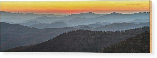 Great Smoky Mountains National Park Sunset Wood Print