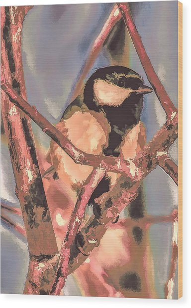 Great Tit  A  Leif Sohlman Wood Print
