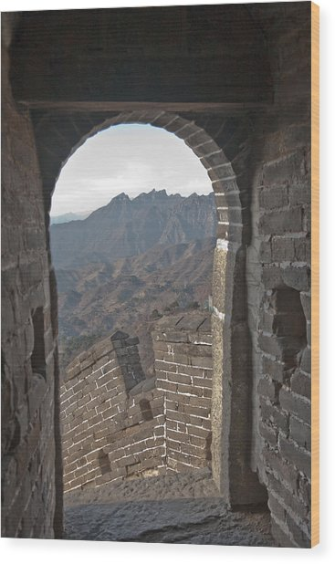 Great Wall View Wood Print