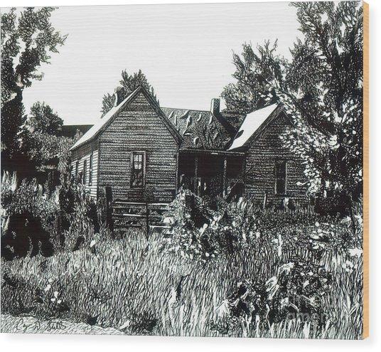 Greatgrandmother's House Wood Print