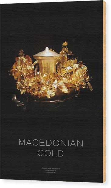 Greek Gold - Macedonian Gold Wood Print by Helena Kay