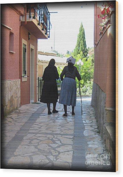 Greek Women Wood Print