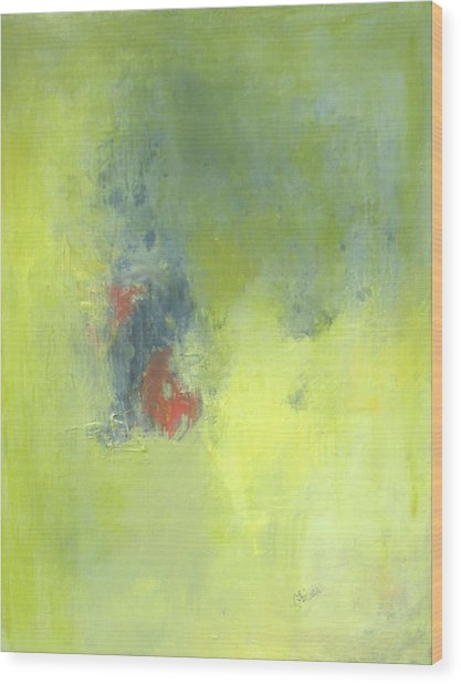 Green Abstract Wood Print by Andrea Friedell