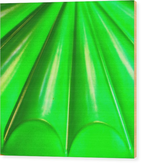 Green Abstract Wood Print