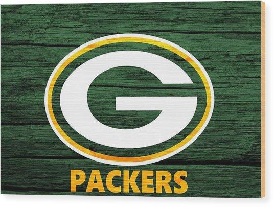Green Bay Packers Barn Door Wood Print