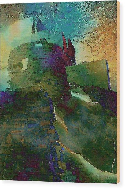 Green Castle Wood Print