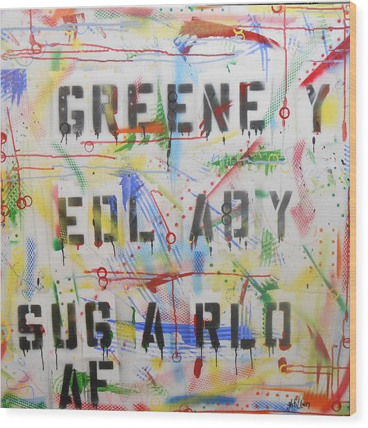 Green Eyed Lady Wood Print