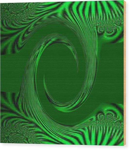 Green Fabric Wood Print