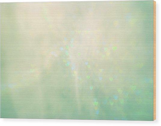 Green Hearts Wood Print
