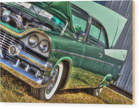 Green Machine Wood Print
