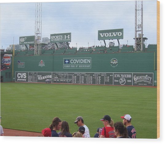 Green Monster Wood Print