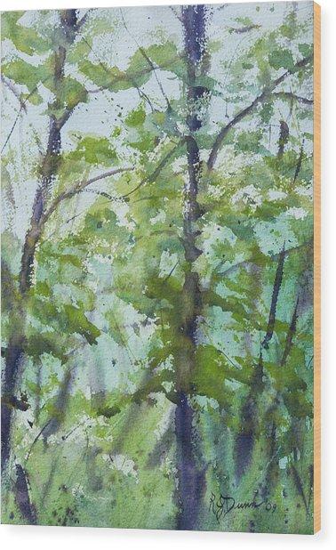 Green Morning 2 Wood Print