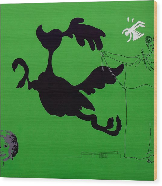 Green Palm Springs Idyll Wood Print
