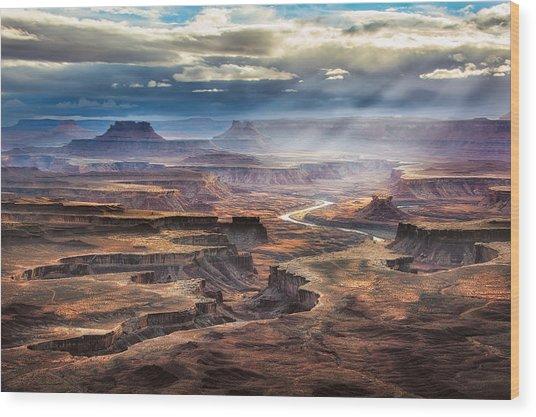 Green River Overlook Wood Print