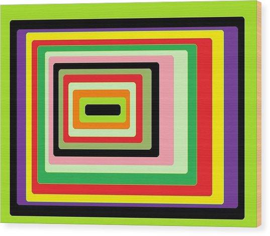 Green Vortex Wood Print