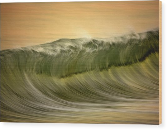 Green Wave #2  C6j7496 Wood Print