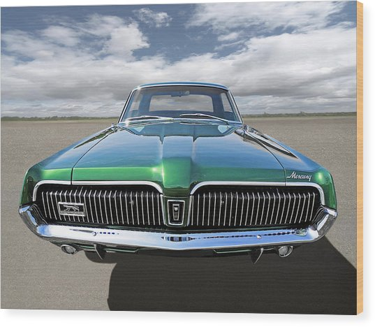 Green With Envy - 68 Mercury Wood Print