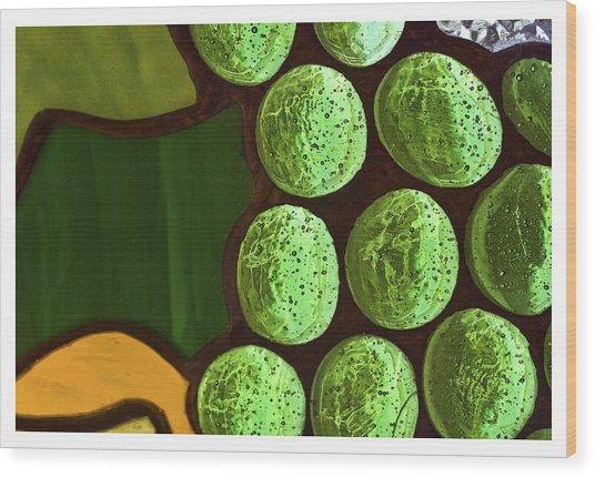 Green Yellow Wood Print