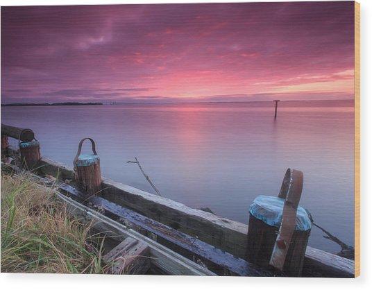 Greenbury Point Sunrise Wood Print