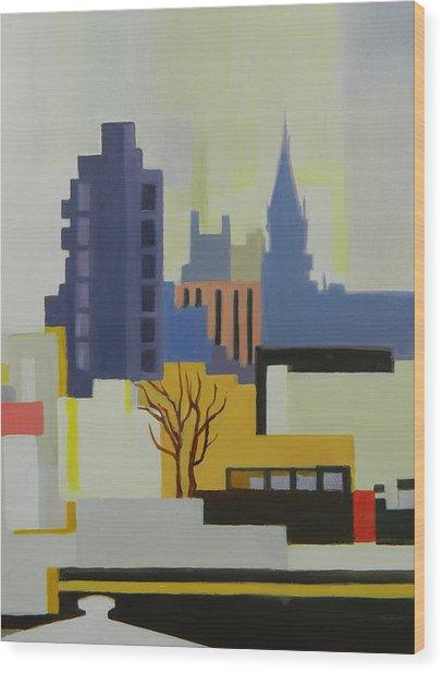 Greenpoint From Pulaski Bridge Wood Print