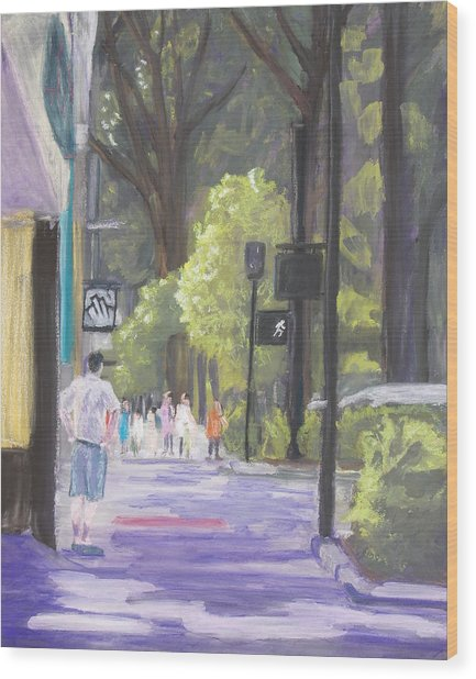 Greenville Street Scene Wood Print