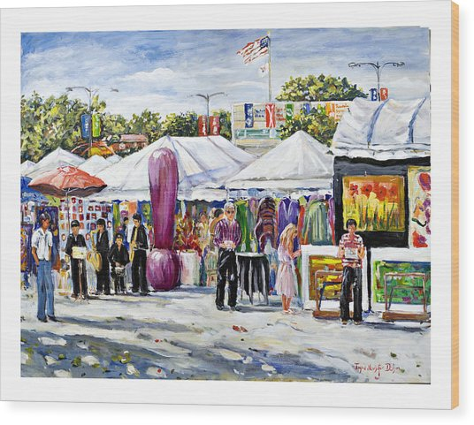 Greenwich Art Fair Wood Print