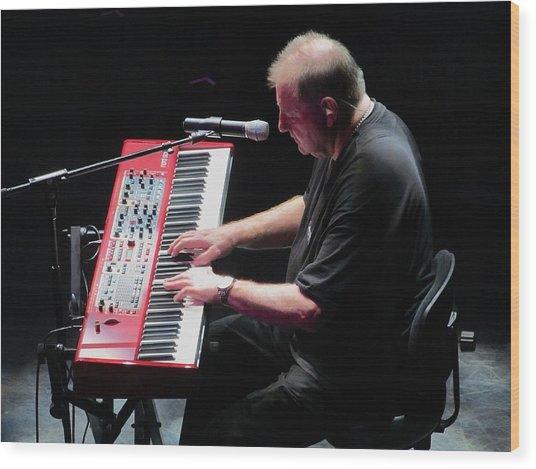 Greg Lake In Concert Wood Print