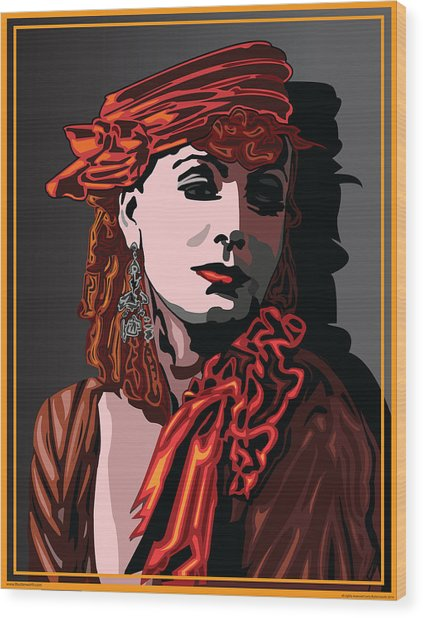 Greta Garbo Hollywood The Golden Age Wood Print by Larry Butterworth