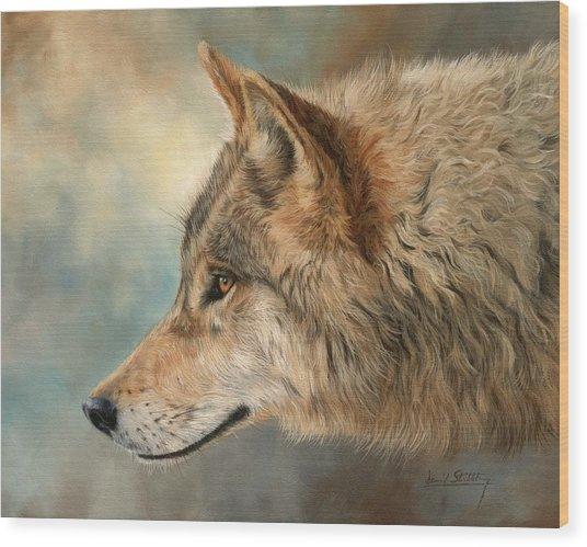 Grey Wolf 3 Wood Print