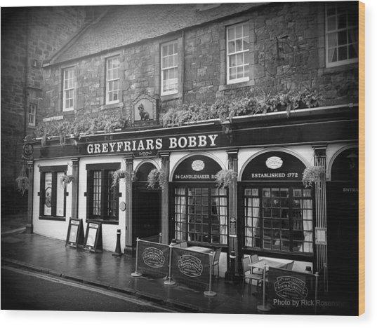 Greyfriars Bobby In Edinburgh Scotland  Wood Print