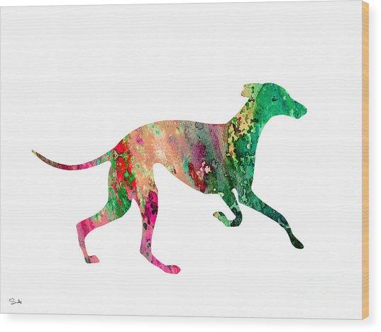 Greyhound 2 Wood Print