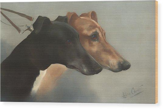 Greyhounds  Wood Print